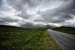Road to nowhere. In  isle of skye Scotland united kingdom Europe Stock Photography