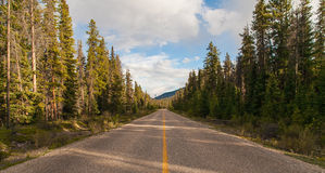 Road to nowhere. Jasper National Park, Alberta, Canada stock photos