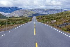 Road to nowhere. Road 51 in Jotunheimen National park, Norway Stock Image