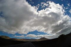 Road to nowhere. / Lanzarote / Canary Islands Stock Images