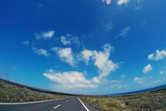 Road to nowhere. / Lanzarote / Canary Islands Royalty Free Stock Photo