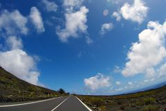 Road to nowhere. / Lanzarote / Canary Islands Stock Image