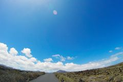 Road to nowhere. / Lanzarote / Canary Islands Royalty Free Stock Image