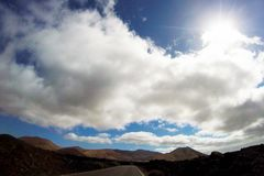 Road to nowhere. / Lanzarote / Canary Islands Royalty Free Stock Photos