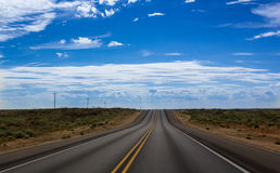 Road to Nowhere. A road in the middle of nowhere Arizona Stock Photos