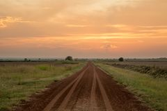 Road to nowhere. Oklahoma road wakita Oklahoma Stock Image