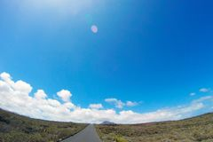 Road to nowhere. / Lanzarote / Canary Islands Royalty Free Stock Photography