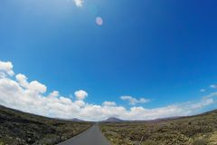 Road to nowhere. / Lanzarote / Canary Islands Stock Photos