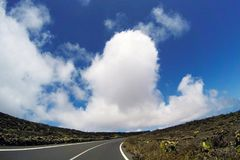 Road to nowhere. / Lanzarote / Canary Islands Royalty Free Stock Images