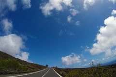 Road to nowhere. / Lanzarote / Canary Islands Stock Photo