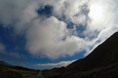 Road to nowhere. / Lanzarote / Canary Islands Stock Photography