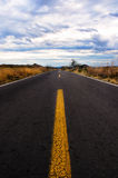 Road to nowhere. Rural road in mexico to puebla from mexico city 2013 Stock Photography