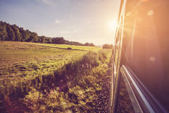 Road to nowhere. Summer train road to nowhere background picture Stock Photos