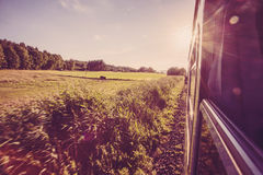 Road to nowhere. Summer train road to nowhere background picture Royalty Free Stock Photos