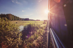 Road to nowhere. Summer train road to nowhere background picture Royalty Free Stock Image