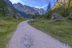 Road to Obersee, Berchtesgaden national park Stock Photo