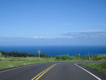 Road to the ocean. Royalty Free Stock Photography