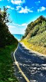 Road to the ocean Royalty Free Stock Images