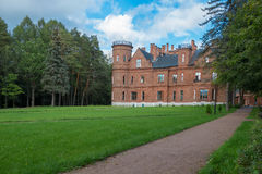 The road to the old castle Royalty Free Stock Photo