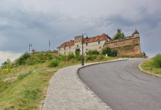 Road to the old fortress in Brasov, Romania Stock Images