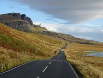 Road to the Storr. The road to the Old Man of Storr royalty free stock photo