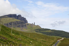 Road to the old man of Storr Royalty Free Stock Photo