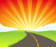Road To Paradise stock illustration