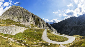 Road to pass Gotthard Royalty Free Stock Photo