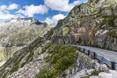 Road to pass Grimsel Stock Photos