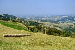 Road to Passo della Cisa, from Tuscany to Emilia Stock Photo