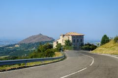 Road to Passo della Cisa, from Tuscany to Emilia Stock Photos