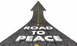 Road to Peace End War Fighting Words. 3d Illustration Stock Images