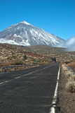 Road To Peak of Teide volcano Royalty Free Stock Photo