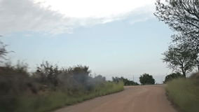 Road to Peniscol acceleration. Spain, Peniscol suburb of 2014 September. Road to Peniscol stock video footage