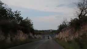Road to Peniscol acceleration. Spain, Peniscol suburb of 2014 September. Road to Peniscol stock video