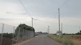 Road to Peniscol acceleration. Spain, Peniscol suburb of 2014 September. Road to Peniscol stock footage
