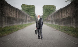 Road to pension Stock Photography