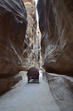 The road to Petra Royalty Free Stock Images