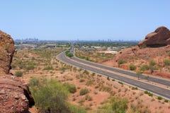 Road to Phoenix Downtown, AZ Stock Photos