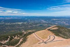 Road to Pike Peak summit, Colorado Spring, Colorado Royalty Free Stock Image