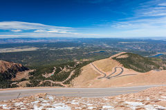 Road to Pike Peak summit, Colorado Spring, Colorado Stock Photo