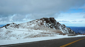 Road to the Pikes Peak Royalty Free Stock Images