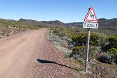 Road to Piton de la Fournaise volcano on La Reunion Royalty Free Stock Image