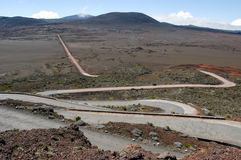 Road to Piton de la Fournaise volcano on La Reunion Royalty Free Stock Photography