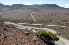 Road to Piton de la Fournaise volcano on La Reunion Stock Image