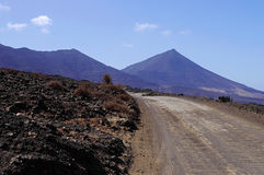 A road to Playa de Cofete royalty free stock photos