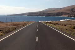 Road to Playa Quemada Lanzarote Stock Photo