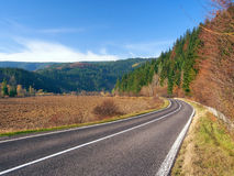 Road to Podbiel, Slovakia Royalty Free Stock Photos