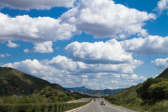 Road to Prairie in Inner Mongolia Stock Photos
