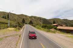 Free Road To Puca Pucara Fortress, Cusco, Peru Stock Images - 140730884